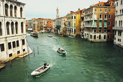 Canal Grande seen from Rialto Bridge Royalty Free Stock Photography