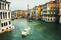 Canal Grande seen from Rialto Bridge Stock Image