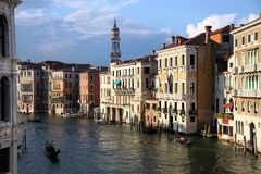 View of Canal Grande from the Rialto Bridge Stock Photos