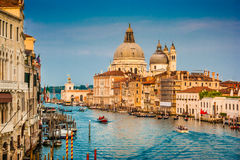 Canal Grande at sunset, Venice, Italy Royalty Free Stock Images