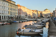 The `Canal Grande` in Trieste Royalty Free Stock Photo