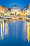 Canal grande in Trieste city center, Italy Royalty Free Stock Photography