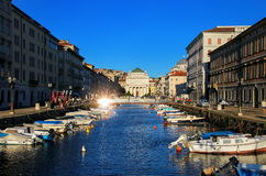 Canal Grande in Trieste, Italy Royalty Free Stock Photo