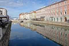 Canal Grande Trieste Royalty Free Stock Photos
