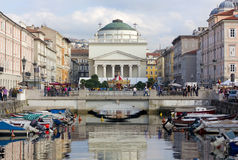 Canal Grande in Trieste Royalty Free Stock Photos