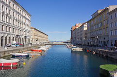 Canal Grande of Trieste Stock Photo