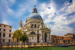Canal Grande-und Basilika-Santa Maria della begrüßen, Venedig, Italien Stockfotos
