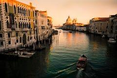Canal Grande Venedig Stockfotografie