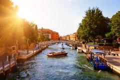 Canal Grande in Venedig, Italien stockfoto