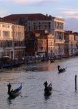 Canal grande, Veneza fotografia de stock