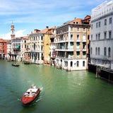 CANAL GRANDE - VENEZA ITÁLIA Fotos de Stock Royalty Free