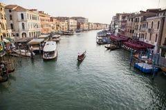 Canal grande, Veneza, Italy Fotos de Stock Royalty Free