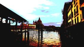Canal grande Venezia al crepuscolo fotografia stock