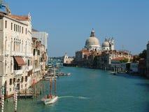 Canal Grande, Venice. View from the Ponte Dell'Accademia with Santa Maria della Salute stock photo