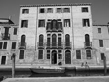 Canal Grande in Venice in black and white Stock Images