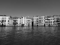 Canal Grande in Venice in black and white Stock Photo