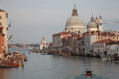 Canal Grande, Venice. The dome of the Basilica of Santa Maria de Stock Photos