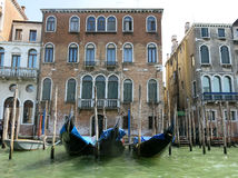Gondolas Canal Grande, Venice stock image