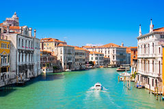 Canal Grande in Venice, Italy. Famous Canal Grande in Venice, Italy as seen from Ponte dell'Accademia royalty free stock photos