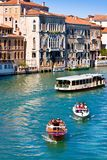Canal Grande in Venice, Italy as seen from Ponte dell'Accademia Stock Photos