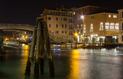 Canal Grande in Venice at Night Stock Photography