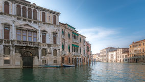Canal Grande. View on the Canal Grande, early in the morning Royalty Free Stock Photos