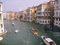 Canal Grande. View on Canal Grande in Venice stock photo