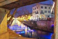 Canal grandioso de Naviglio Imagens de Stock Royalty Free