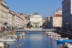 Canal grandioso em Trieste Imagens de Stock