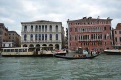 Canal grandioso em Veneza Fotos de Stock