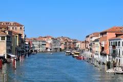 Canal grandioso, Veneza-Itália Imagens de Stock