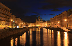 Canal Griboedova, St Petersburg, Rússia Imagem de Stock