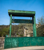Canal Guillotine Gate Stock Photo