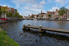 Canal in Haarlem Stock Image