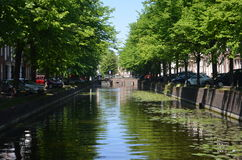 Canal at the Hague Royalty Free Stock Photography