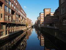 Canal in Hamburg Stock Photography
