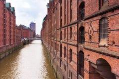 Canal in Hamburg Stock Photos