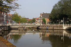 Canal in Harlingen Stock Photos
