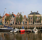 Canal in Harlingen Stock Photo