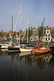 Canal in Harlingen Royalty Free Stock Photography