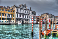 Canal in hdr Stock Photo