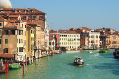 Canal and historic houses in Venice, Italy. royalty free stock photography
