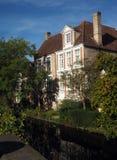 Canal historique l'Europe de maisons de Bruges Belgique Image stock