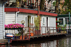 Canal Home of Amsterdam Netherlands Stock Photos