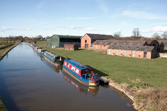 Canal House Narrow Boats Royalty Free Stock Photos