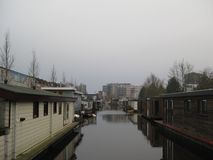 A canal in Groningen, The Netherlands royalty free stock photography