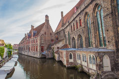 Canal and house in Bruges, Belgium Royalty Free Stock Photos