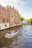 Canal and house in Bruges, Belgium Stock Photo