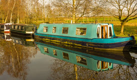 Canal House Narrowboats Royalty Free Stock Images