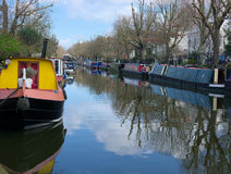Canal houseboats. Little Venice London. Stock Photos
